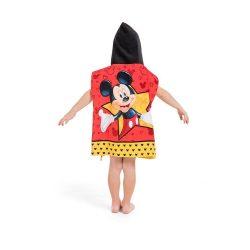 Mickey Mouse kék poncsó, Miki egér poncsó, kapucnis törölköző