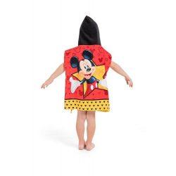 Mickey Mouse poncsó, Miki egér poncsó, kapucnis törölköző
