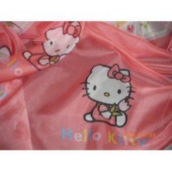 Hello Kitty függöny, voile fényáteresztő függöny