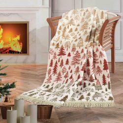 KARÁCSONYI PLÉD 130 X 160 CM  HAPPY CHRISTMAS