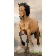 Lovas fürdőlepedő, törölköző, ló  a virágos réten 70 x 140 cm