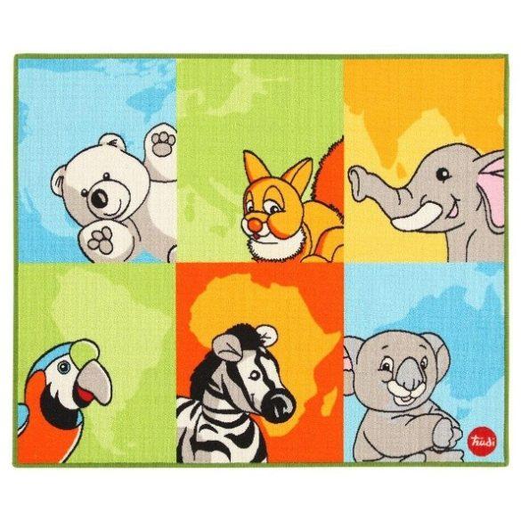Gyerek szőnyeg állatos 100 x 120 cm