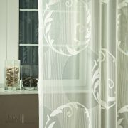 GEYSIR 02 Organza függöny 300 cm magas, krém színben 10,3 méter